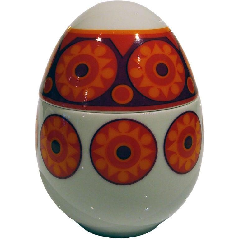 Porcelain Egg Box by Thomas