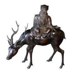 Japanese Bronze Jorojin
