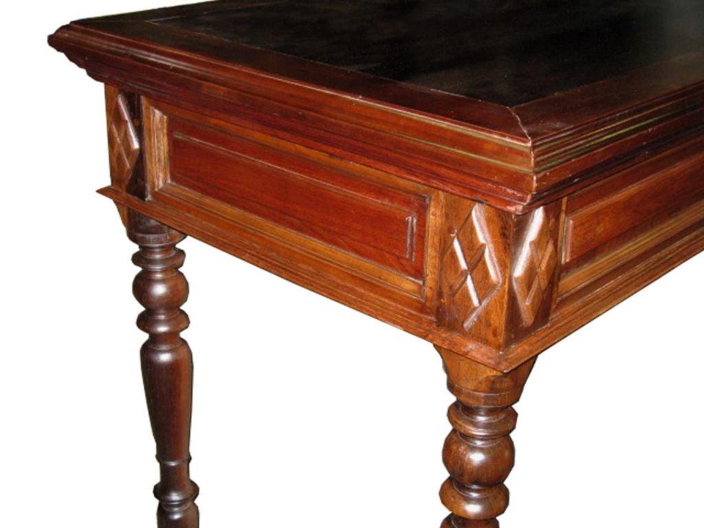 Mahogany wood entry table at stdibs