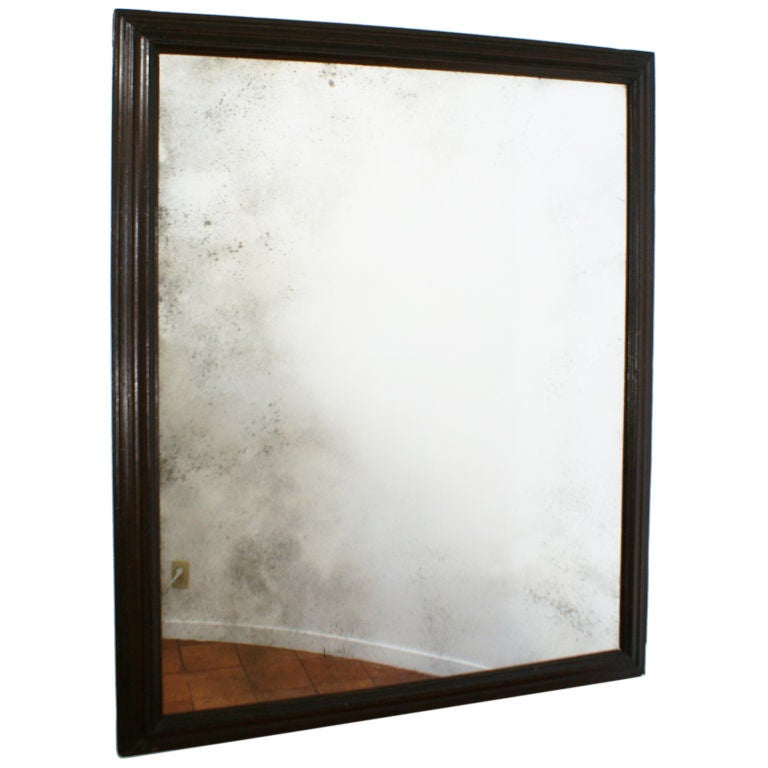 Large baroque ebonized frame mirror at 1stdibs for Plastic baroque mirror