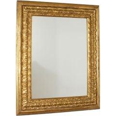 19th Century Italian Baroque Style Giltwood Mirror, circa 1850