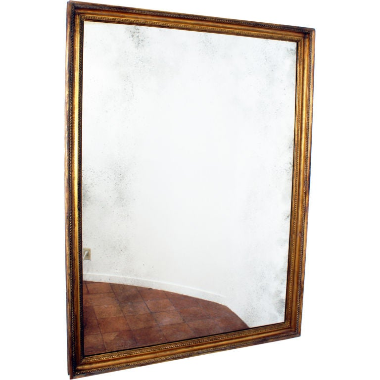 Large giltwood framed mirror at 1stdibs for Big framed mirror