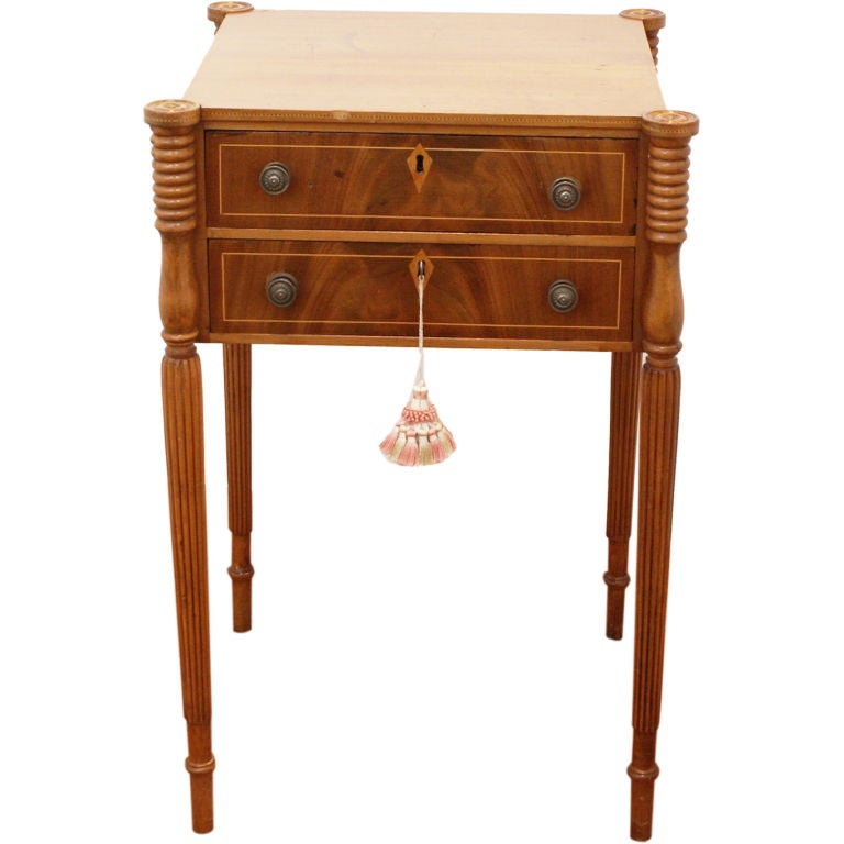 Federal sewing work table at 1stdibs for Furniture work table