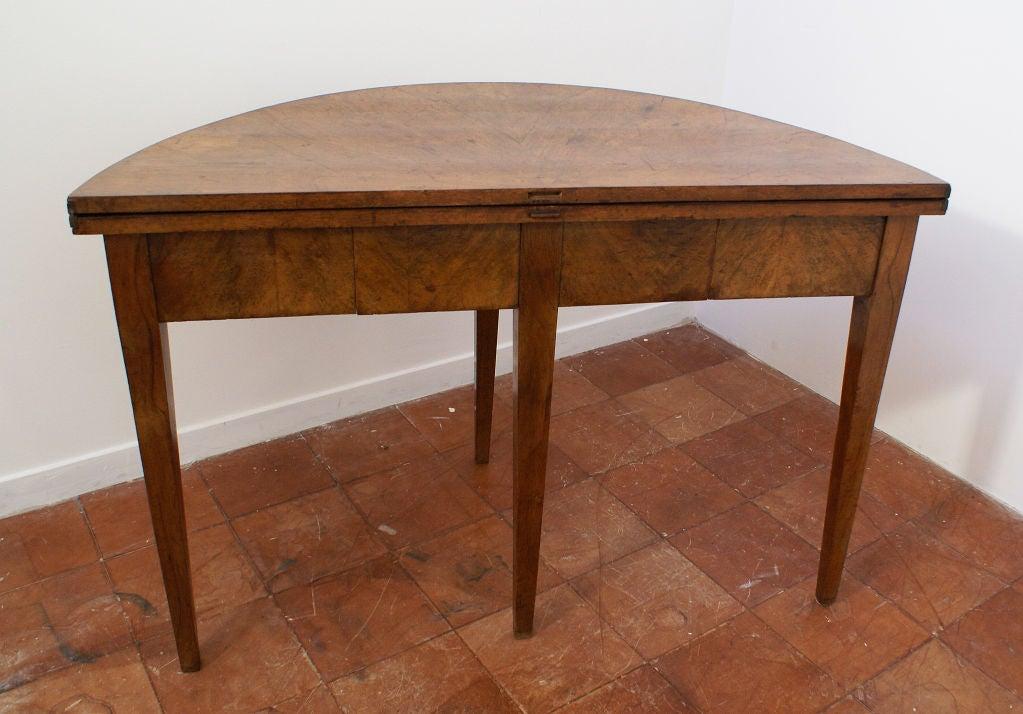 beidermeier elm demi lune table at 1stdibs. Black Bedroom Furniture Sets. Home Design Ideas