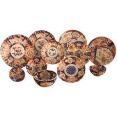 Eleven Piece Collection of Antique Japanese Imari