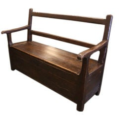 Antique French Fireside Bench