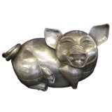 Cambodian Pig Sterling Silver Box