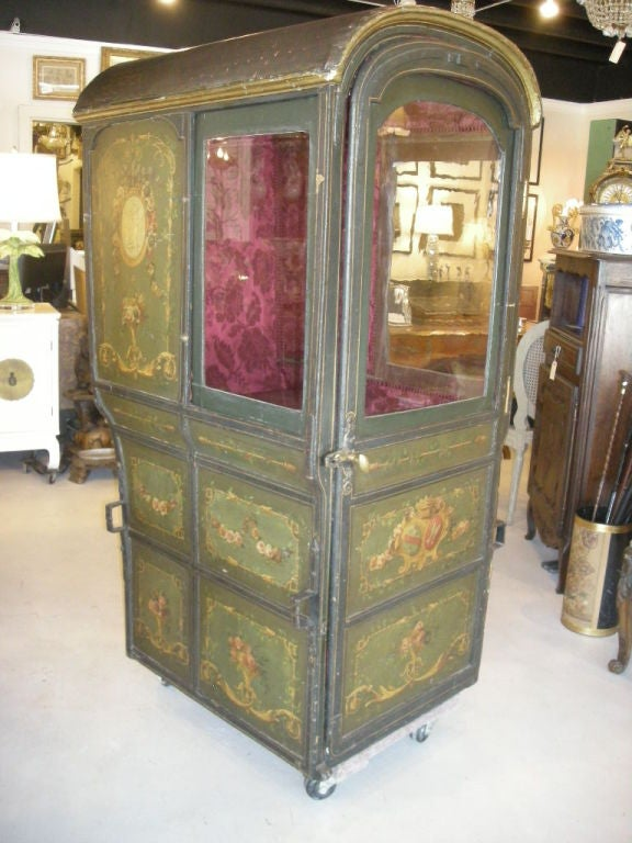 Perfect mode of transportation ... no gasoline required!  All original French sedan chair