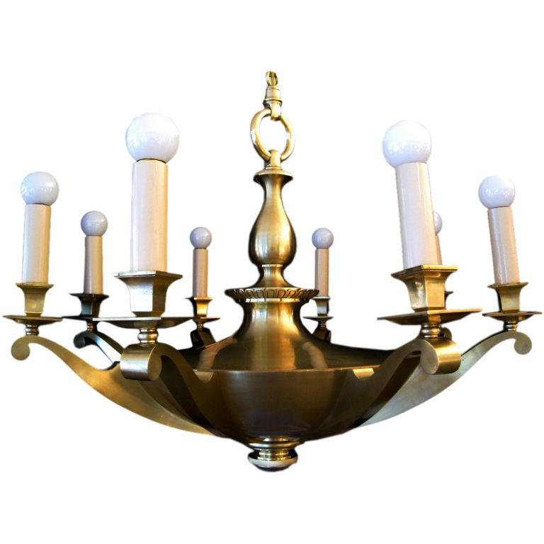 French Bronze Napoleon Style Chandelier 1