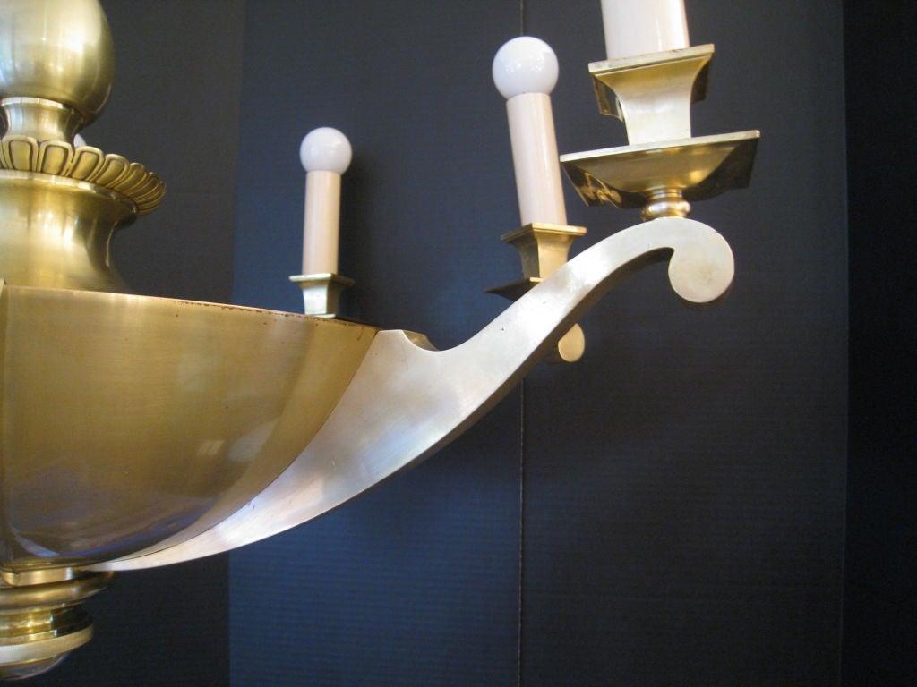 French Bronze Napoleon Style Chandelier 5