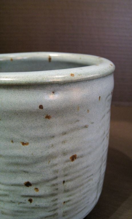 Otto Heino Studio Pottery Vase. Heino, one other the great mid century potters died July 16th.  These pieces were done shortly after the death of his wife and teacher Vivika in 1996. These are Otto's shapes and Vivika's glazes that she would use on