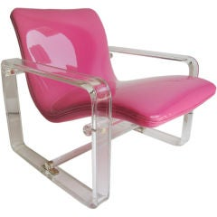 Lucite Lounge  Chair