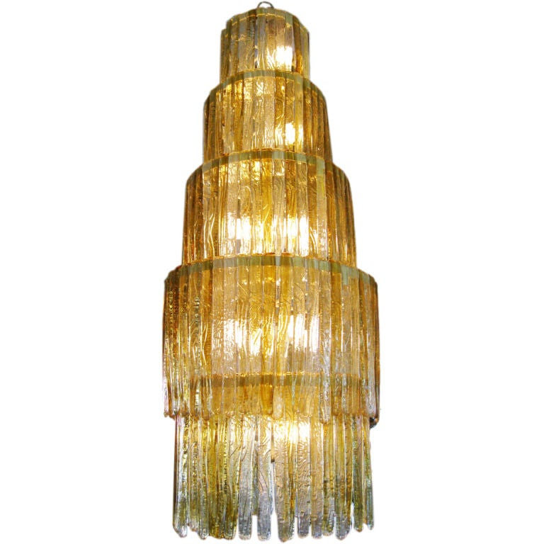 Mexican Glass Pendant Lighting : Six foot mexican glass chandelier at stdibs