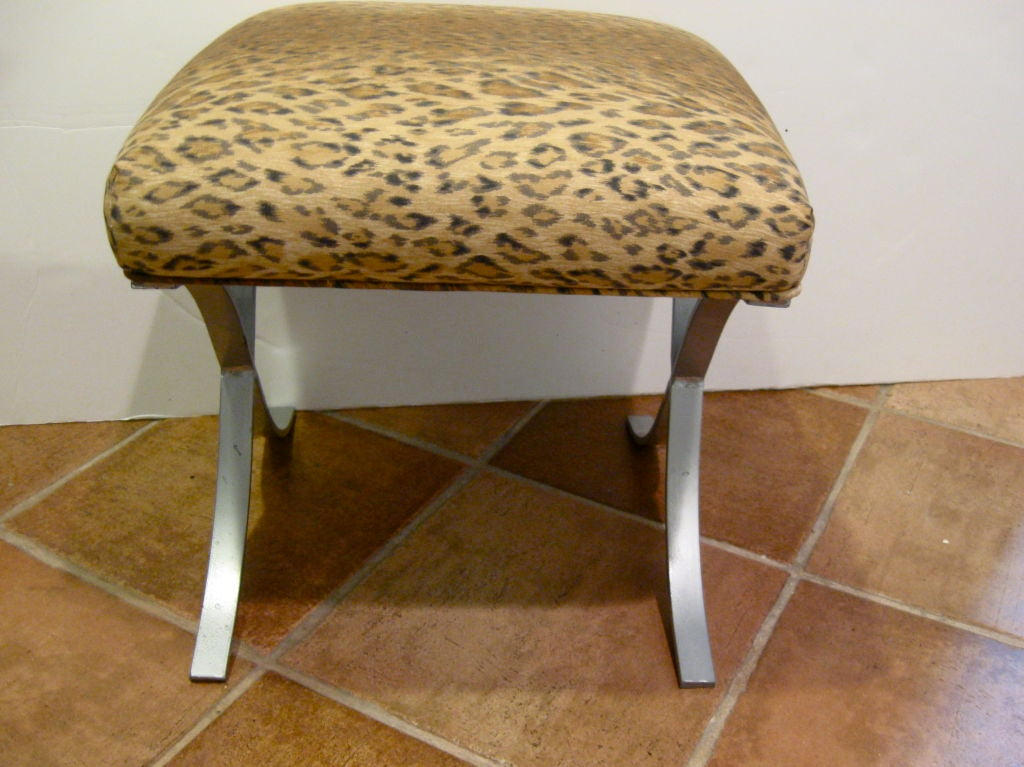 Leopard Bench Stool At 1stdibs