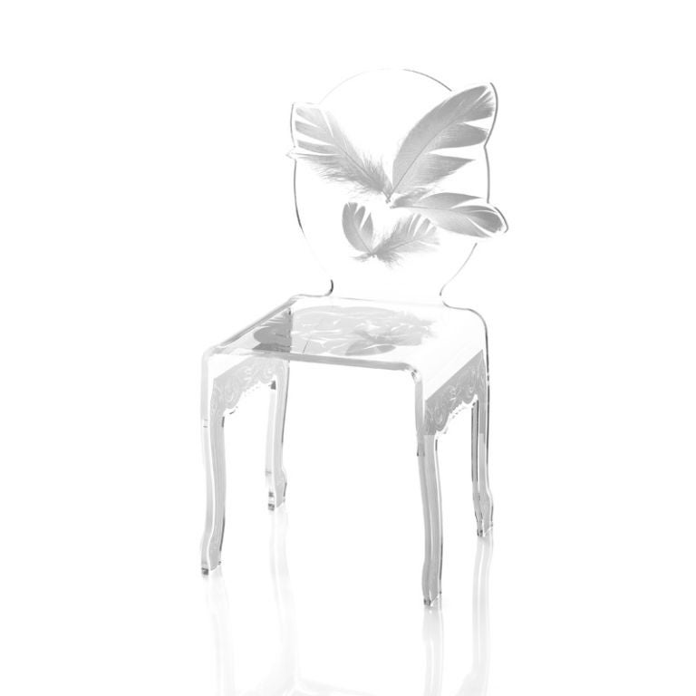Contemporary 16 French Modern Acrylic Dining Chairs For
