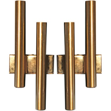 How Much To Install Wall Sconces : Gio Ponti Brass Sconce at 1stdibs