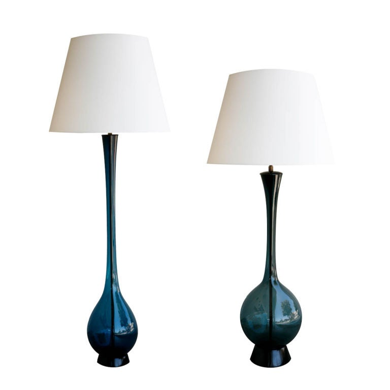 Unique Pair Of Arthur Percey Table Lamps At 1stdibs