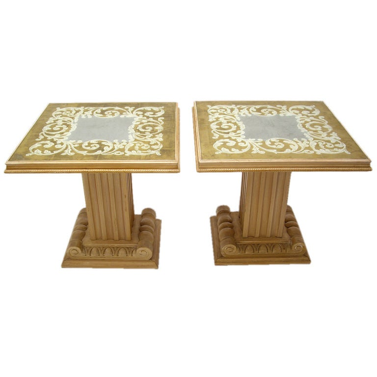 Pair of Tables by Grosfeld House 1940s