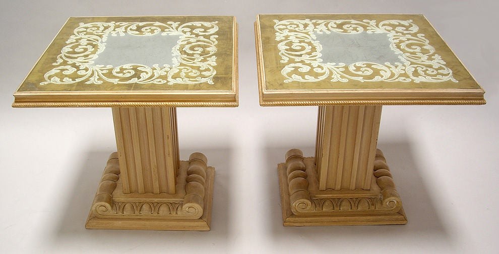 Pair of Tables by Grosfeld House 1940s In Excellent Condition For Sale In Los Angeles, CA