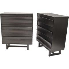 Paul Laszlo (1900-1993) Pair of Six Drawer Dressers