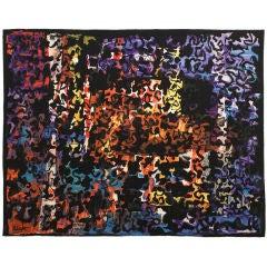 1962 - Mathieu Mategot - Large Modernist Aubusson Wool Tapestry