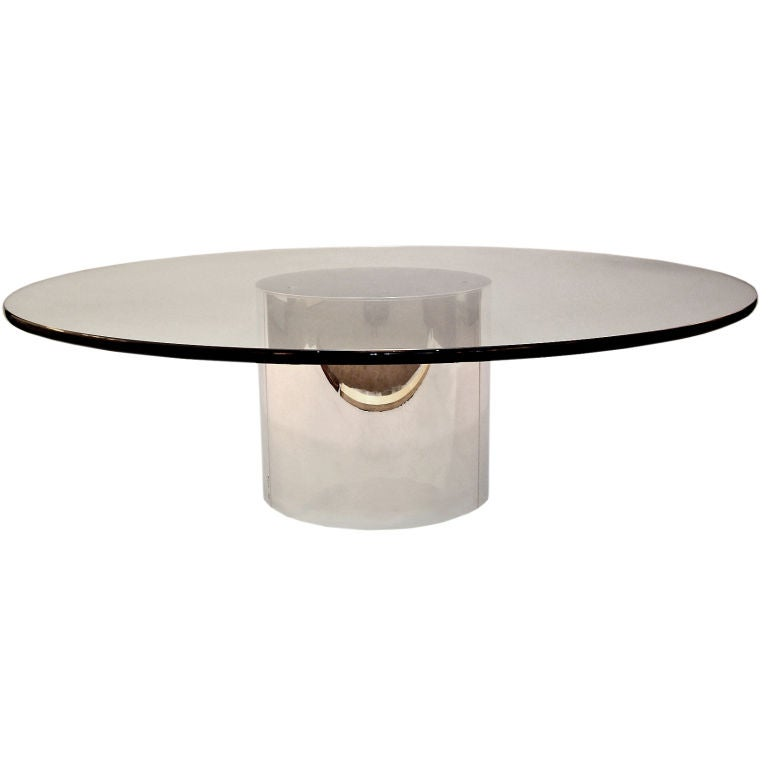Curtis Jere Polished Chrome And Glass Coffee Table At 1stdibs