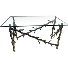Maison Jansen Faux Black Coral Table