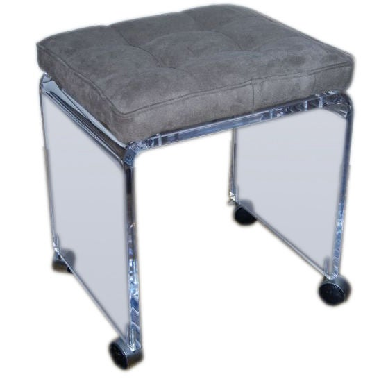 Simple Lucite Stool on Wheels at 1stdibs : lucitestool from www.1stdibs.com size 559 x 559 jpeg 24kB
