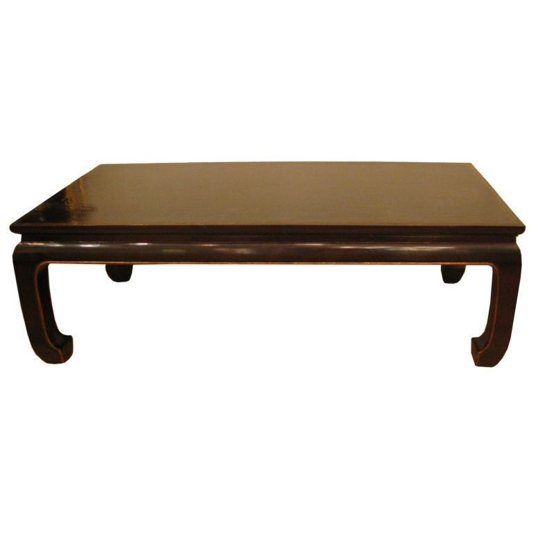 Asian Style Coffee Table With Black Lacquer Finish At 1stdibs