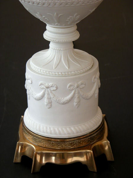 American Wedgwood Style White Bisque Porcelain Baluster