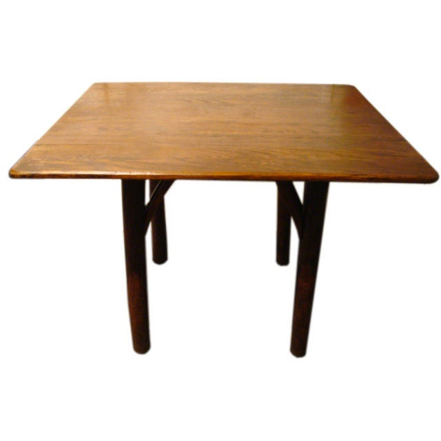 This pair of ld hickory tables signed ld hickory in ld suface is no