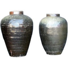 Antique Japanese Wine Storage Pots
