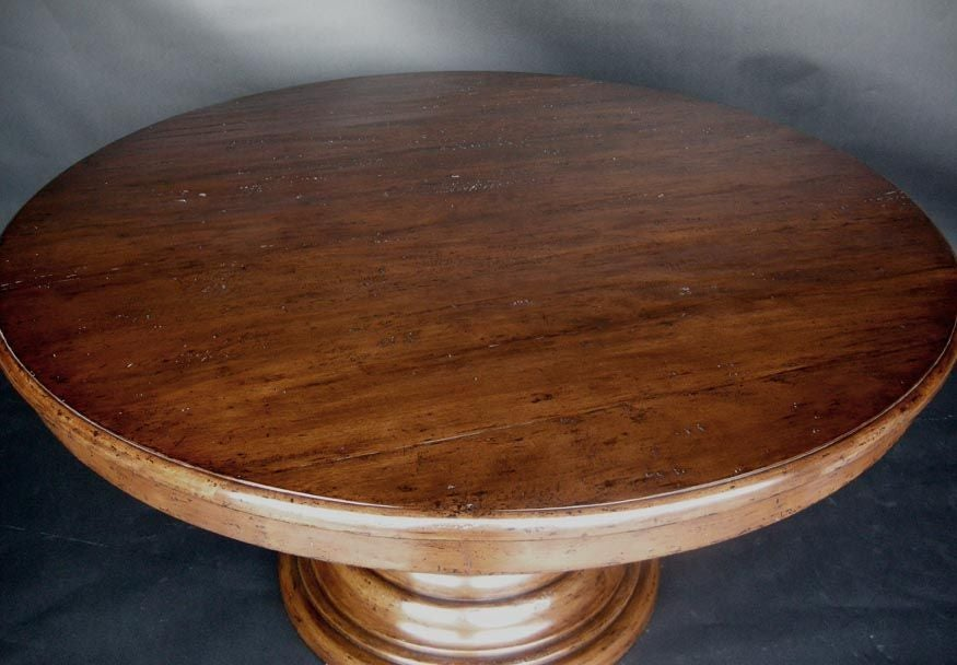 Round Beehive Pedestal Table At 1stdibs