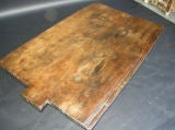 19th Century Baking Board with Contemporary Hand wrought Iron Le thumbnail 6