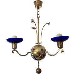 Swedish Grace Period  Silver-plated Chandelier