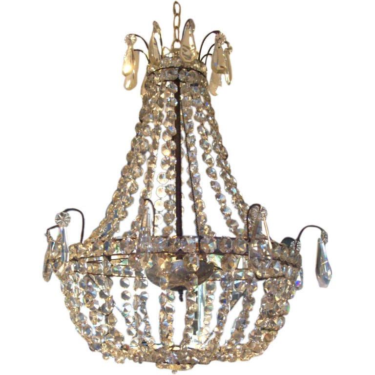 Stunning Neoclassical Style Crystal Chandelier At 1stdibs