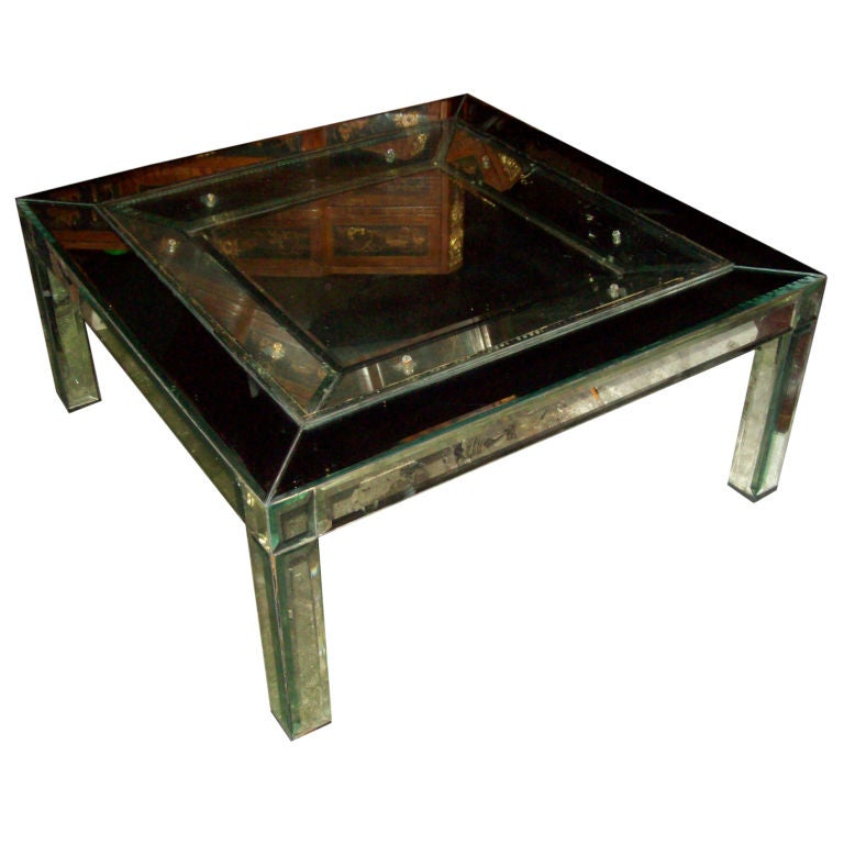 Unusual mirrored coffee table at 1stdibs for Coffee tables quirky