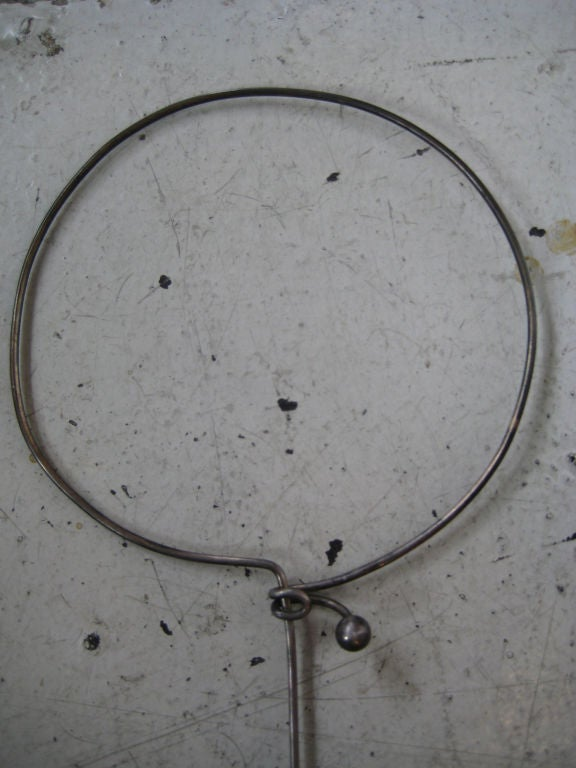 Danish Modernist Sterling Collar Necklace by Anton Michelsen For Sale