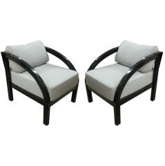 Paul Frankl Black Lacquer Arm Chair