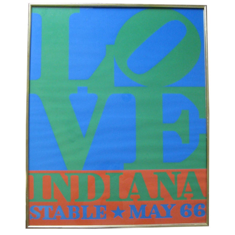 First Edition Robert Indiana LOVE Silkscreen Poster For Sale
