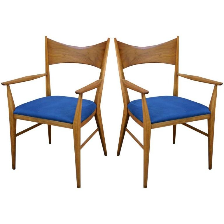 Pair Paul McCobb Head Chairs at 1stdibs