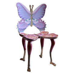 Spectacular Butterfly Form Chair by Pedro Friedeberg