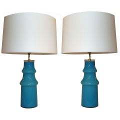Pair of Cased Glass Table Lamps by Johanfors