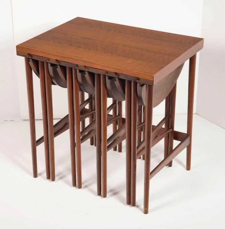 American Nest of Occasional Tables Bertha Schaefer for M. Singer & Sons For Sale