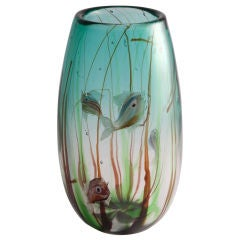 Tropical Fish Vase by Barbini