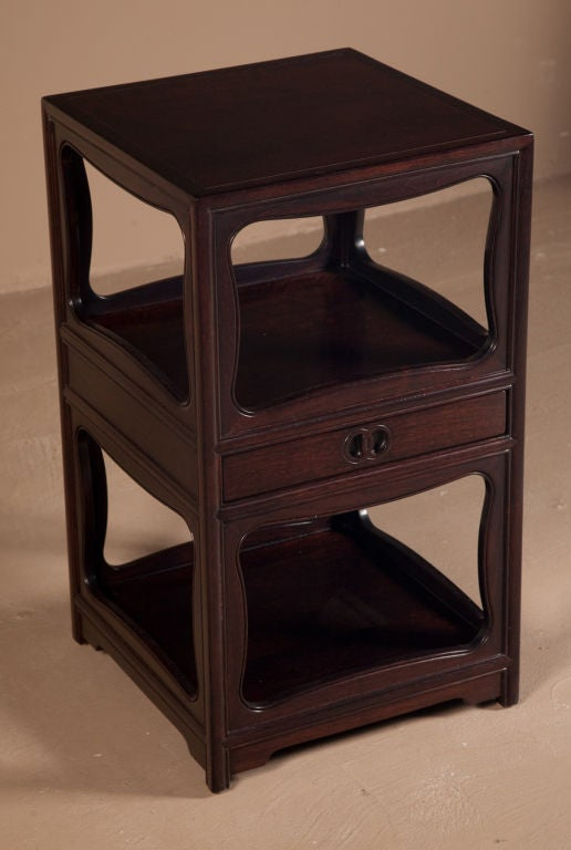 """Pair of Tall """"Far East"""" Nightstands by Michael Taylor for Baker For Sale at 1stdibs"""