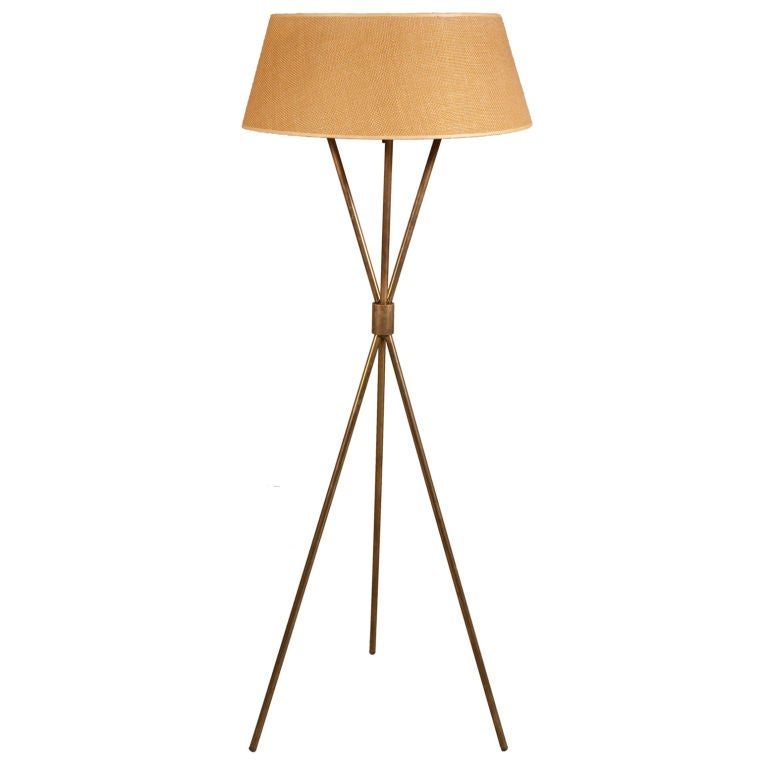 Tripod Floor Reading Lamp by T.H. Robsjohn-Gibbings for Hansen