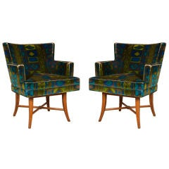 Pair Pull Up Chairs by Tommi Parzinger for Parzinger Originals