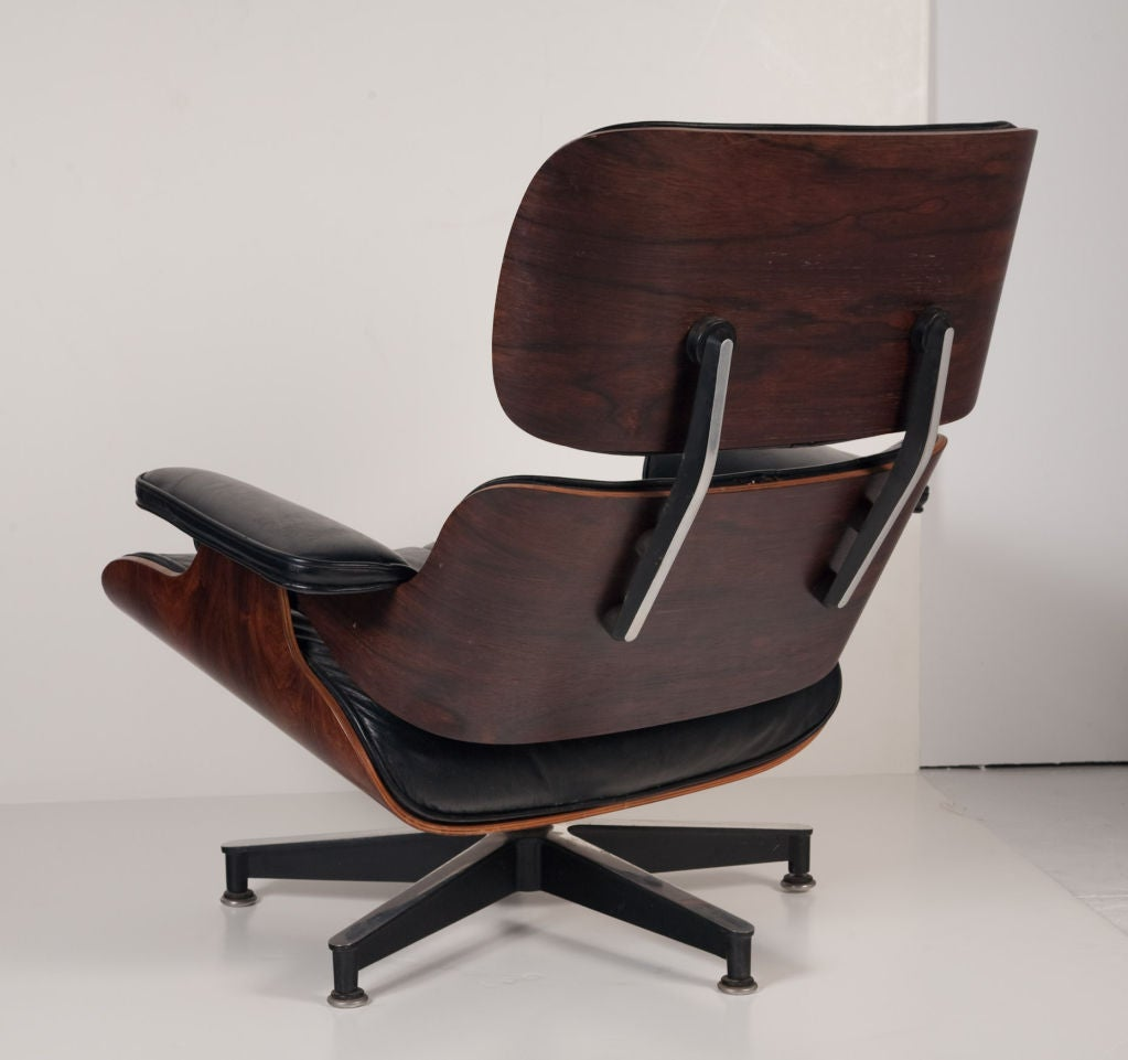 American Exceptional Chair and Ottoman by Charles Eames for Herman Miller