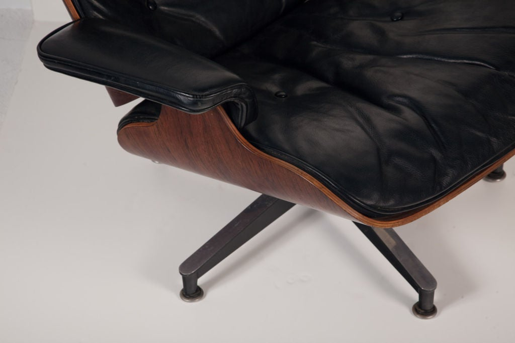 Mid-20th Century Exceptional Chair and Ottoman by Charles Eames for Herman Miller